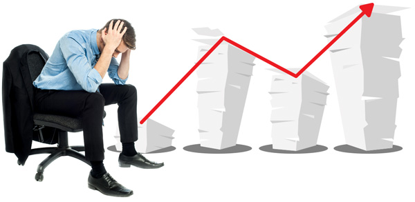 Menadžer sa glavoboljom zbog visokih troškova štampe dokumenata